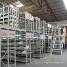 Fabricant chinois 2 niveaux Mezzanine avec grille en acier
