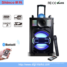 Neue Ankunft DJ Audio Portable Lautsprecher mit Bluetooth, Licht, Mic