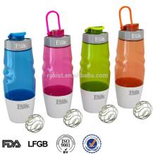 Bouteille de shaker en plastique sans protéine de BPA 16oz 600ml