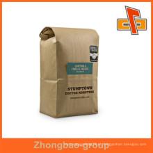 Sacos de embalagem de alta qualidade China fornecedor stand up papel kraft sacos de café personalizado com impressão