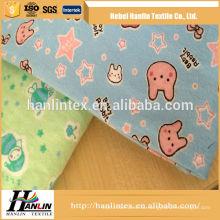 Handelsversicherung Druck Baumwoll Flanell Stoff für Baby Kleidung / Solid Färben Flanell Stoff 100 Baumwolle Flanell