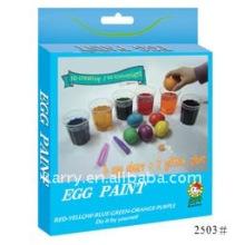 6 couleurs oeuf de Pâques peinture