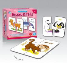 Educación 15PCS Paper Aninal Jigsaw Puzzle Puzzle Game con En71 (10214748)