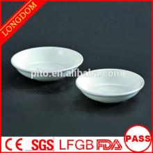 Plateau en porcelaine ronde en porcelaine directe en usine