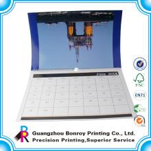 Печатание полного цвета изготовленный на заказ вися спираль настенные календари 2014
