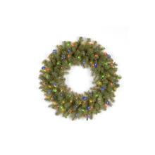 La couronne de Noël de sapin de Douglas avec ses 50 lumières LED à plusieurs couleurs (MY310.256.00)