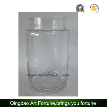 Clear Glass Hurricane Vase for Home Decor
