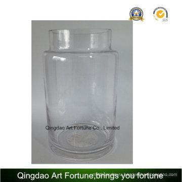 Прозрачная стеклянная ураганная ваза для домашнего декора