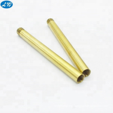 OEM CNC turning brass  precision hollow thread tube parts