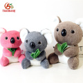 O urso de Koala feito sob encomenda azul / rosa / roxo / mini / gigante / bebê Panda, peluche macio do Natal encheu brinquedos do Koala com seu logotipo