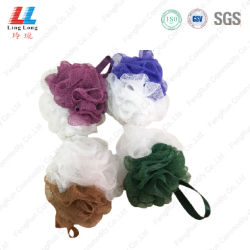 Mixture style two color mesh sponge ball