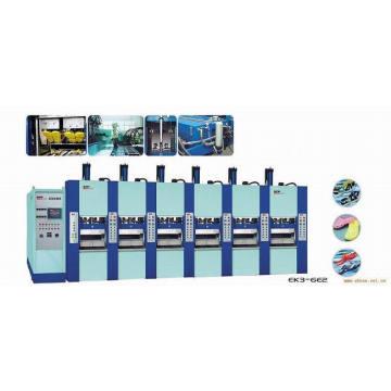 Machine de moulage par injection de chaussures EVA 6 stations