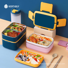 Japanese 18/8 Stainless Steel Lunch Box For Kids School Leak-Proof Bento Box With Compartment Food Storage Container