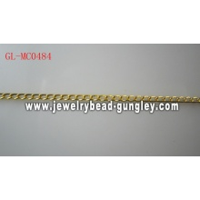 Shiny Gold Plate color jewelry chain