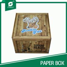 Nuevo estilo personalizado impreso papel corrugado caja de embalaje de ciervos al por mayor