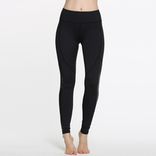 New Arrival Tight Wholesale Women Sportwear Gym Yoga Pants with Black Mesh