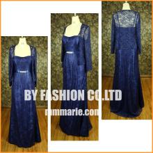 Elegantes blaues großes Größenfrauenkleid formales Hochzeitskleid für Mutterkleidfabrikpreis