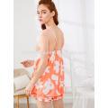Bonito Floral Imprimir Spaghetti Strap Sleepwear Pijama de Verão Fabricação Atacado Moda Feminina Vestuário (TA0002P)