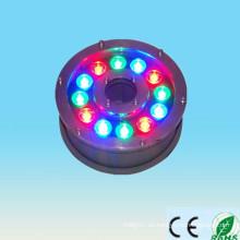 Alibaba expresan el nuevo producto en el mercado de China 100-240v 12V 24V 9w 12w ip65 12w RGB llevó la luz subacuática de la fuente