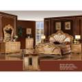 Mobília antiga do quarto ajustada com cama e armário clássicos (W808)
