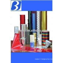 Film transfert thermique métallique pour cigarettes, vins, cosmétiques wrap, boîte de cadeau de Noël et emballage cadeau