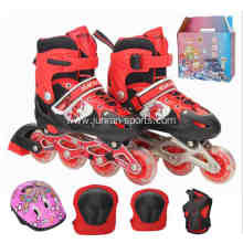 A complete set of kids inline skates