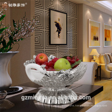 Peacock shaped high quality eco-friendly resin home decorative fruit bowl