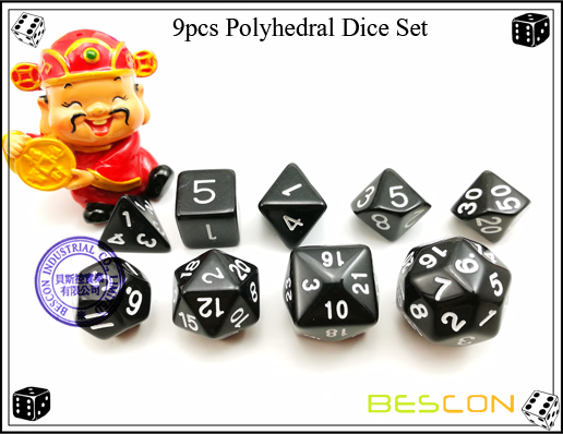9pcs Polyhedral Dice Set-25