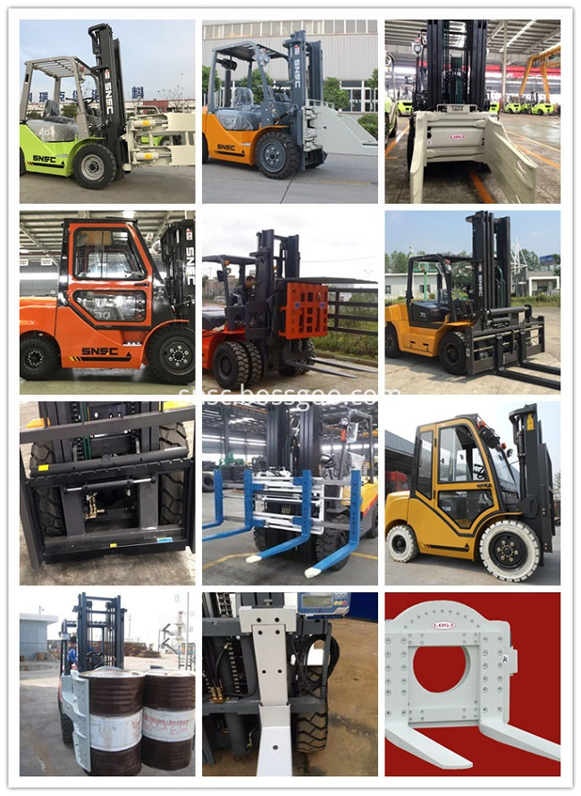 Forklift With Clamps