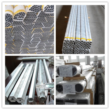 Different Metal Alloy 6005, 6061, 6063 Aluminum Alloy Tube for Structure, Decoration