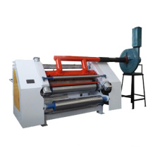 Fingerless single facer for flute corrugated paper making machine
