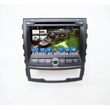 ¡Venta caliente! Navegación estérea del gps del coche del DVD del coche para Ssangyong korando 2010 a 2013 Navegador del GPS del coche Radio Multimedia con wifi