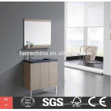 chinese cheap wood veneer bathroom cabinet storage