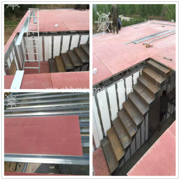 Kekuatan Tinggi Fiberglass Fireproof 18mm MgO Floor Panel