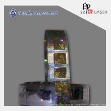 Acessível anti-falsificando holográfico tiras Lables