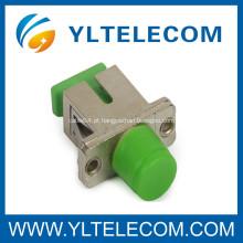 SC / FC híbrida fibra óptica transmissão adaptador com cerâmica / luva P.B
