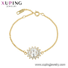 75619 xuping crystal plated high-end flower shape bracelet for ladies