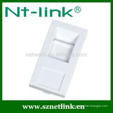 Французский стандартный заглушка для 1 краеугольного разъема 45 x 22,5 мм лицевой панели сетевого кабеля