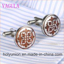 VAGULA Designer redondo de acero inoxidable gemelos de madera roja 361