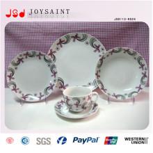 Ensembles de dîner ronds adaptés aux besoins du client de forme ronde de Stonewasre avec la qualité pour promotionnel