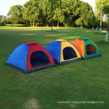 Camping Tent 2/4 Person Family Tent Double Layer Outdoor Waterproof Windproof Anti-UV tent