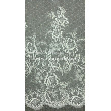 Цвета слоновой кости кружева chantilly ткань кружева занавес ткани кружева скатерть CTC397-T09 вышивки