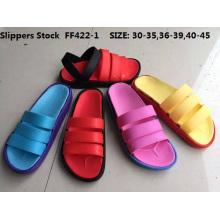 Estoque de sandálias sapatos chinelos de alta qualidade baratos eva (ff422-1)
