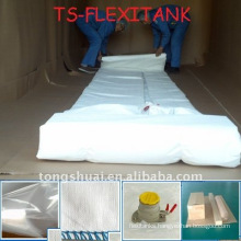 Multilayer flexible bag in 20 feet container for liquid