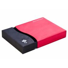 Hochwertige Karton Geschenk Verpackung Papier Schublade Box mit Silber Folie Stanzen