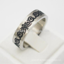 Vintage Blumen-Edelstahl-Emaille-Ringe für Männer