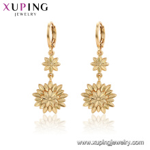 96996 xuping fashion plaqué or fleur pas de pierre boucles d'oreilles pour les femmes