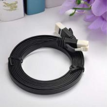 Cable de parche plano CAT6 con RJ45 fabricado en nailon