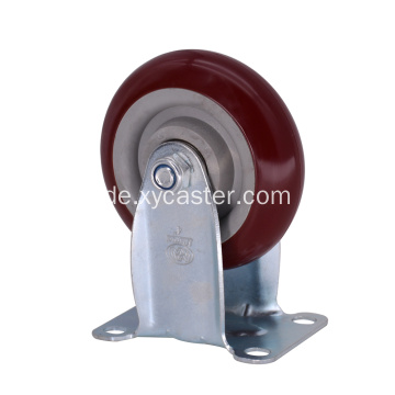 4 Zoll PVC Red Medium Caster Wheel