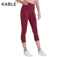 Second skin leggings lu fabric yoga leggings colorful nylon spandex running tights